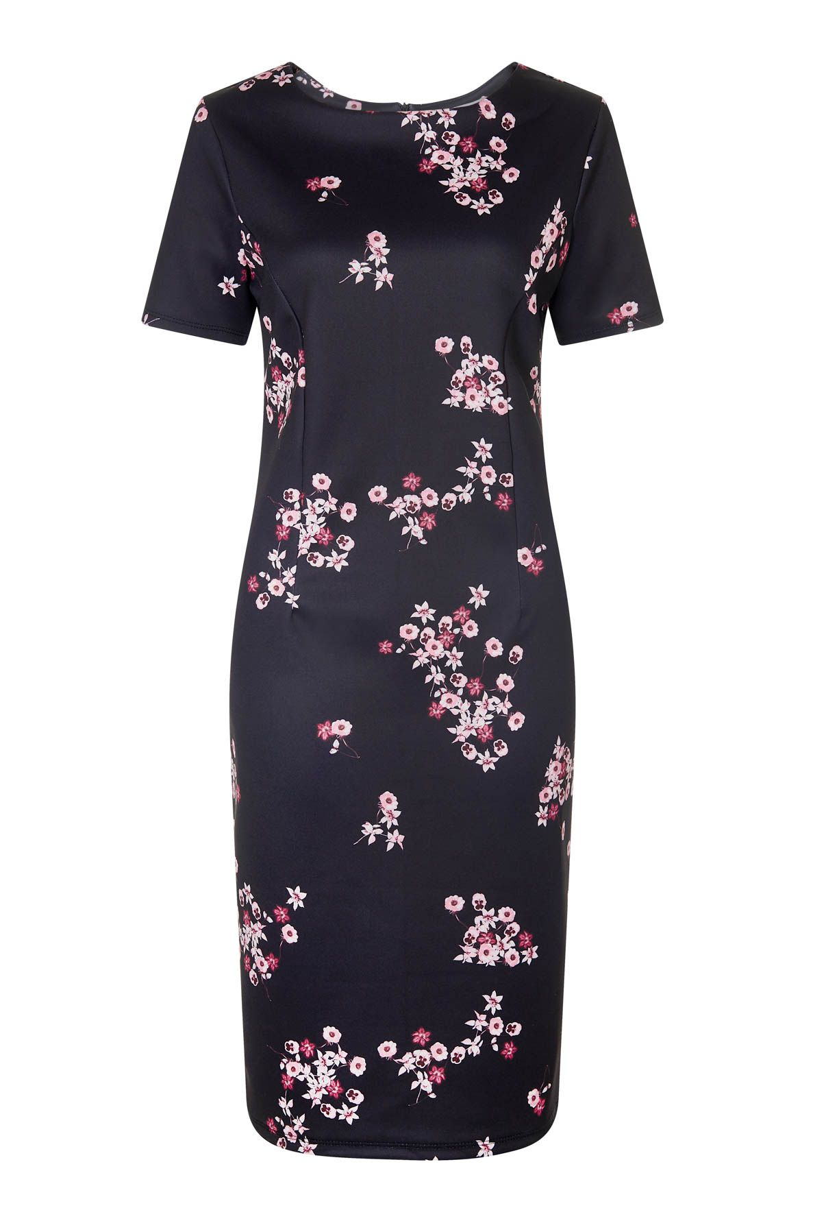 Havren Sinead Floral Dress, Black