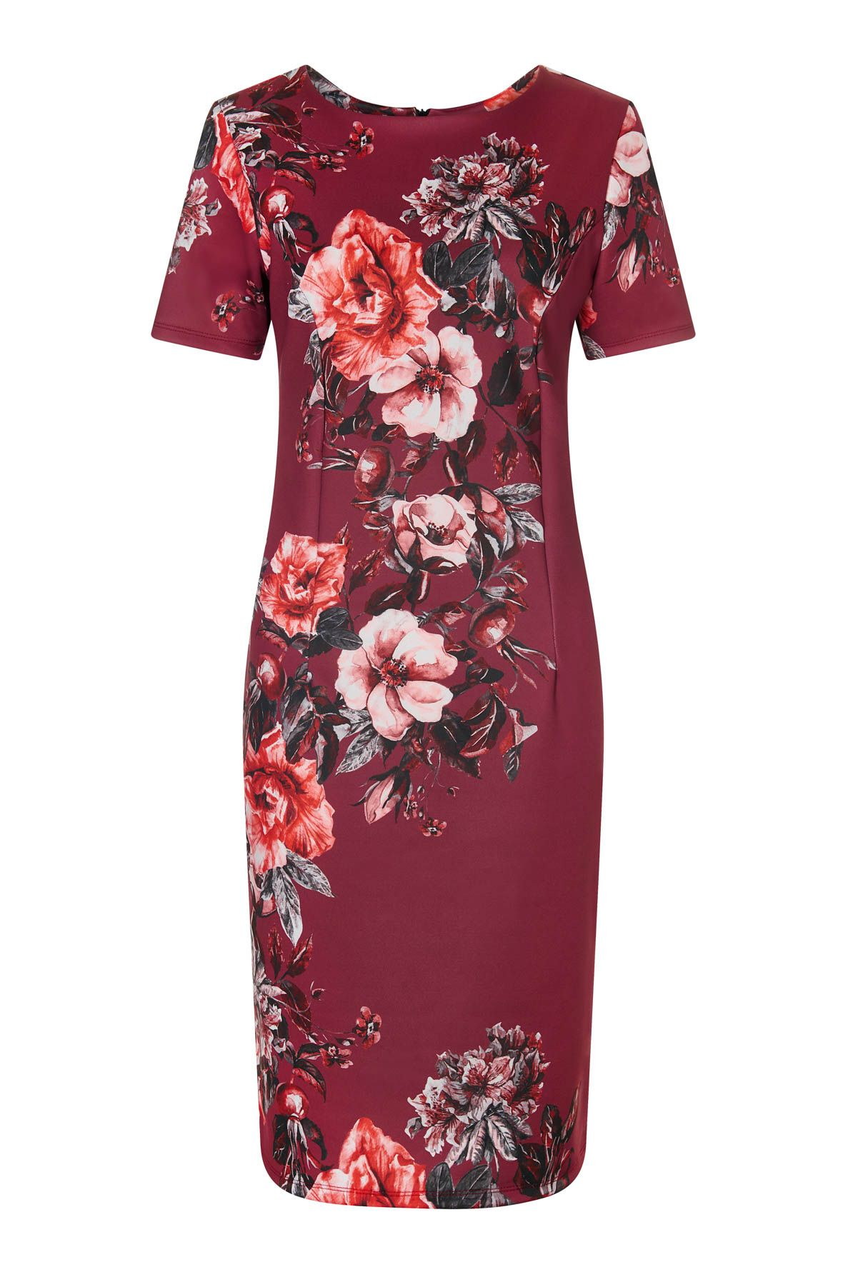 Havren Cecilia Floral Dress, Wine