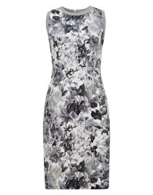 Jessie print fitted dress