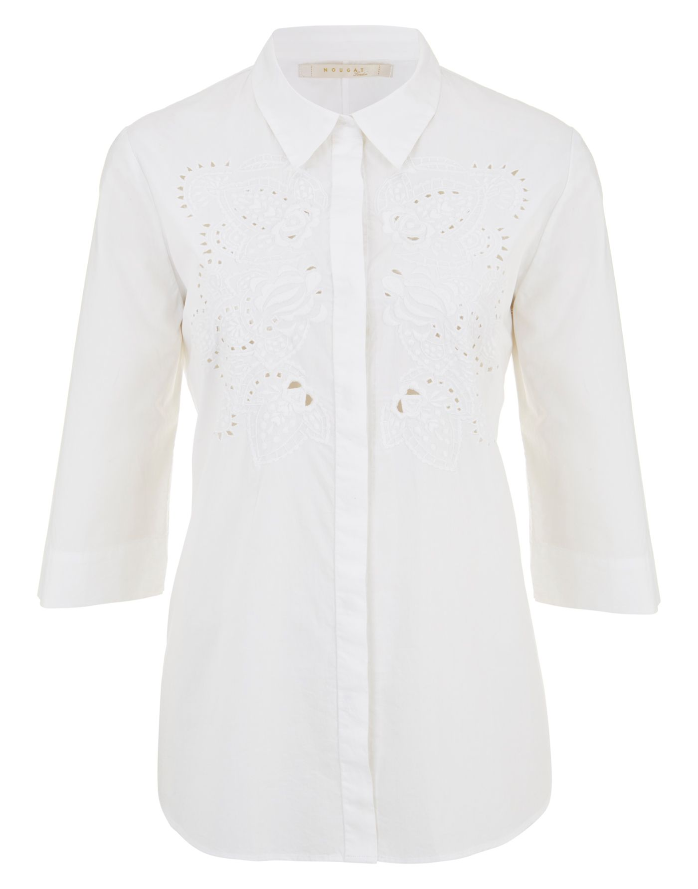 Cutwork cotton shirt