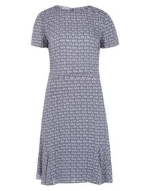 Effie Print Flute Hem Dress