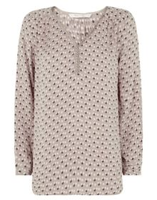 Effie All Over Print Georgette Shirt