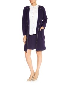 Nougat Boiled Wool Coat