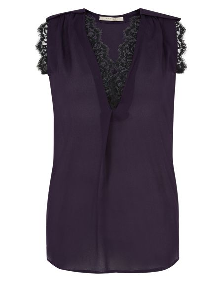 Nougat London Nougat Lace Trim Sleeveless Top