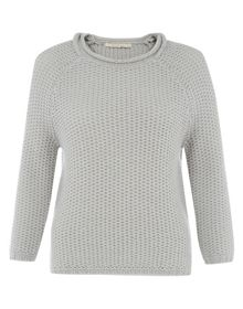 Nougat Basketweave Textured Jumper