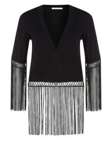 Nougat Fringe Edged Jacket