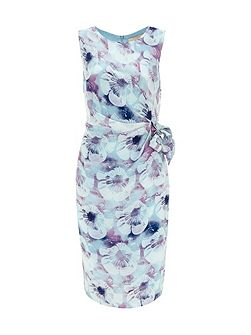 Salma Print Silk Tie Belt Dress