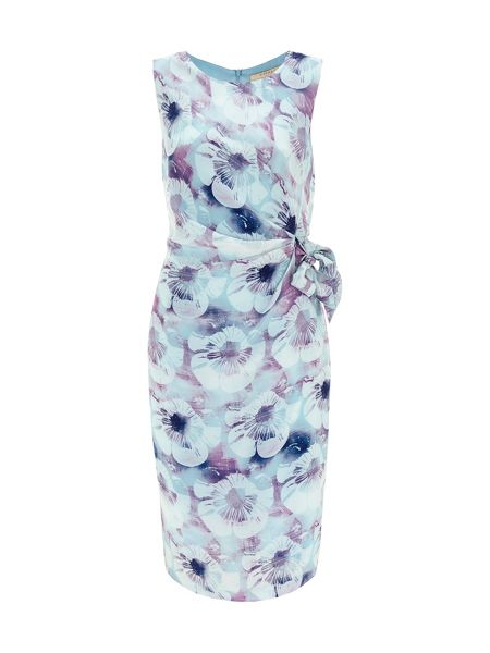 Nougat London Salma Print Silk Tie Belt Dress