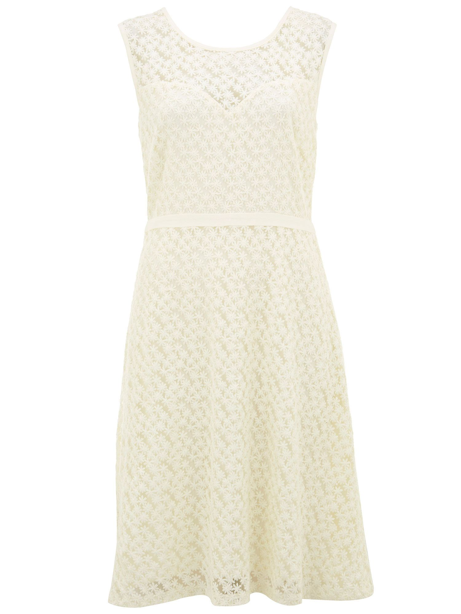 Nougat London Lace Embroidered Dress, Cream