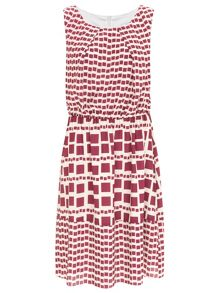 Nougat London Marylebone Tile Print Dress