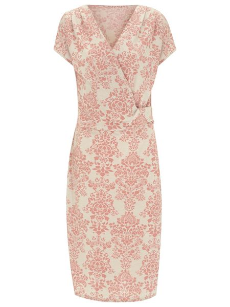 Nougat London Queensbury Wrap Front Dress