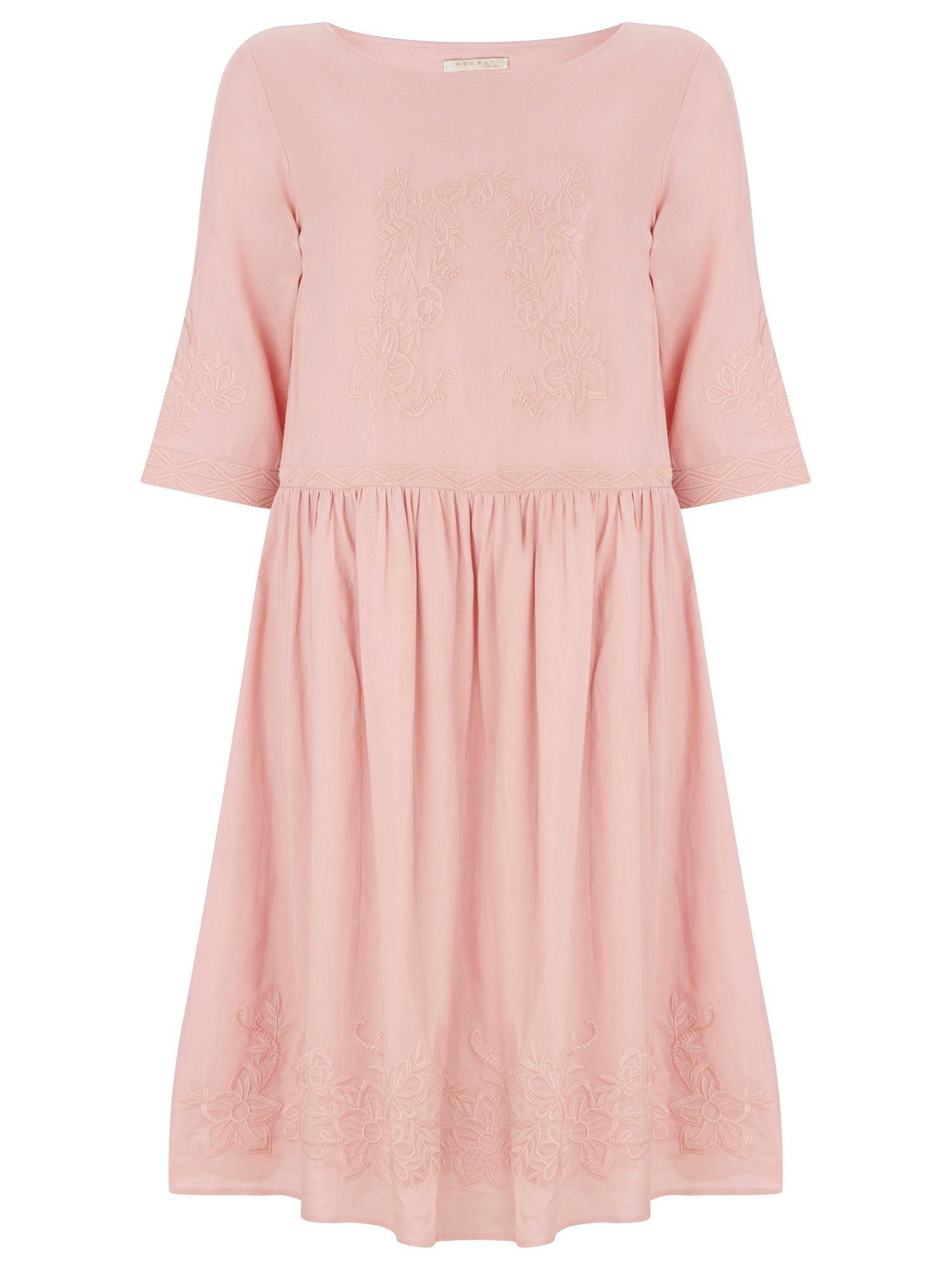 Nougat London Poppy Linen Dress, Pink