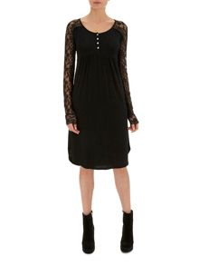 Nougat London Rose Lace Sleeve Dress