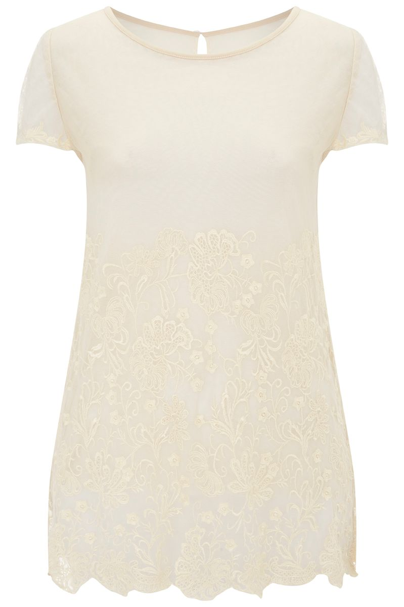 Nougat London Lily Embroidered T Shirt, Neutral