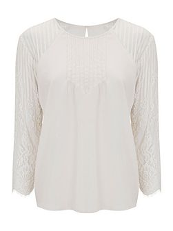 Heather Lace Sleeve Blouse