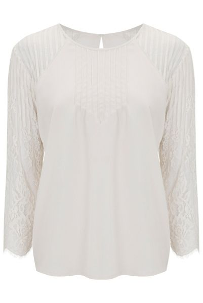 Nougat London Heather Lace Sleeve Blouse