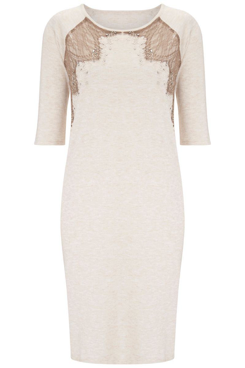 Nougat London Marigold Embellished Dress, Neutral