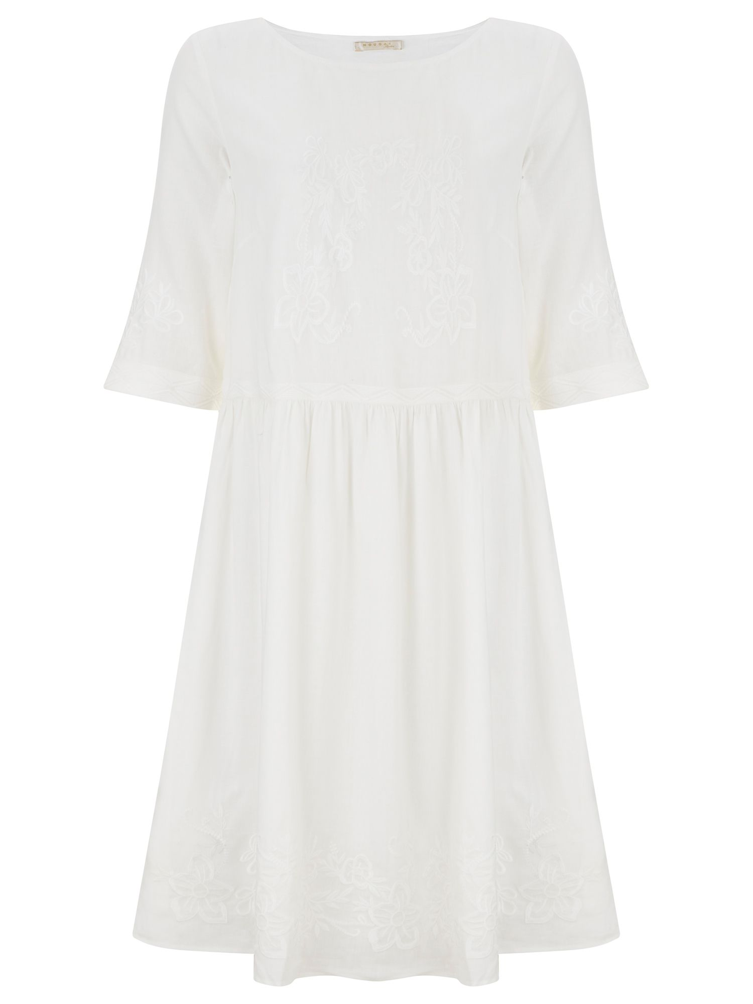 Nougat London Poppy Linen Dress, Cream