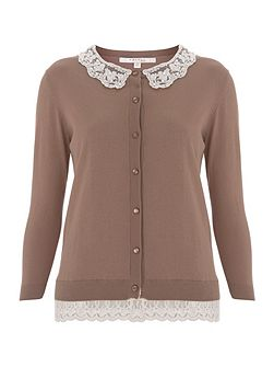 Hyacinth Collar Cardigan