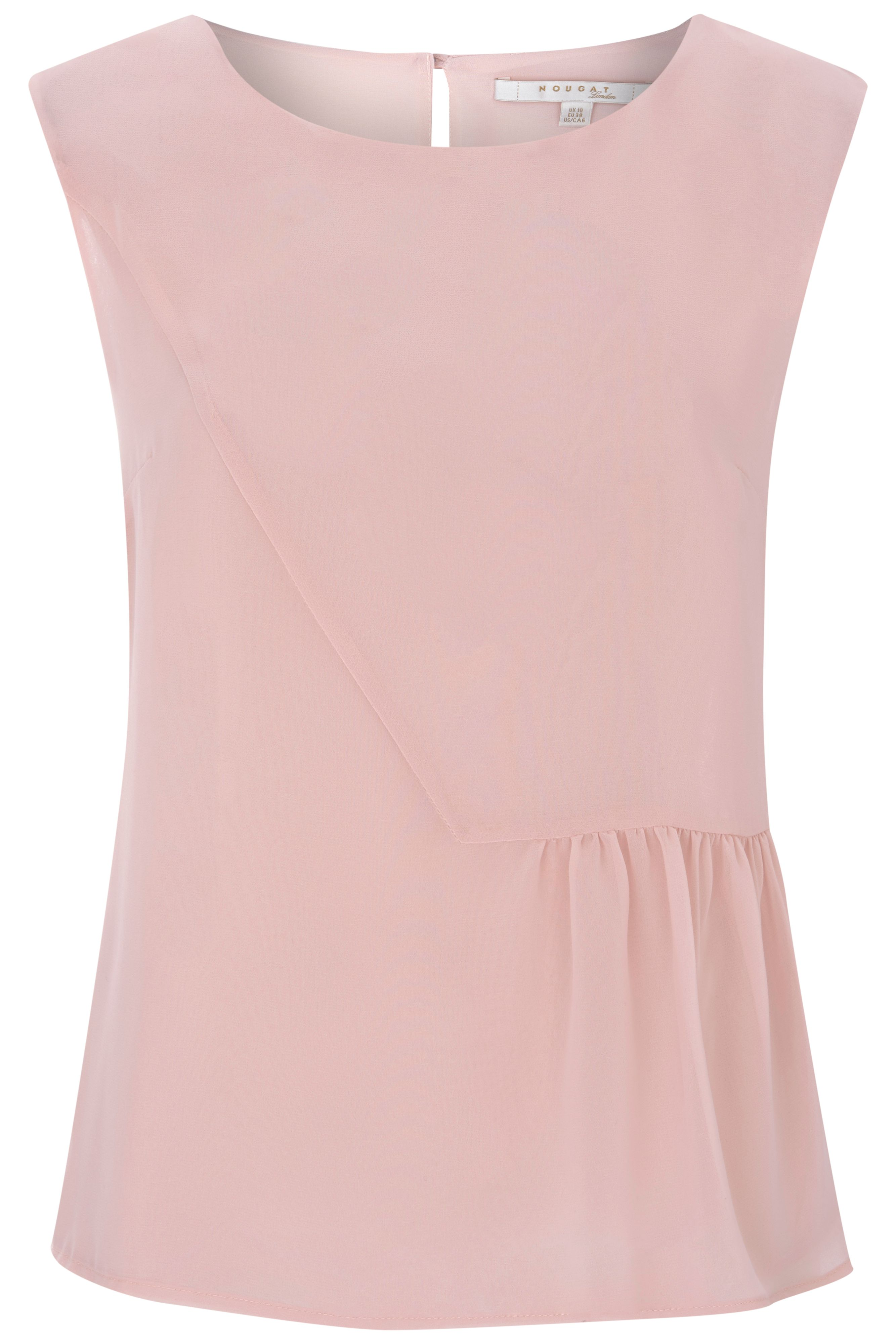 Nougat London Hibiscus Shell Top, Nude