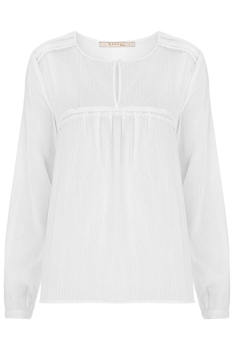 Nougat London Begonia Cotton Blouse, White