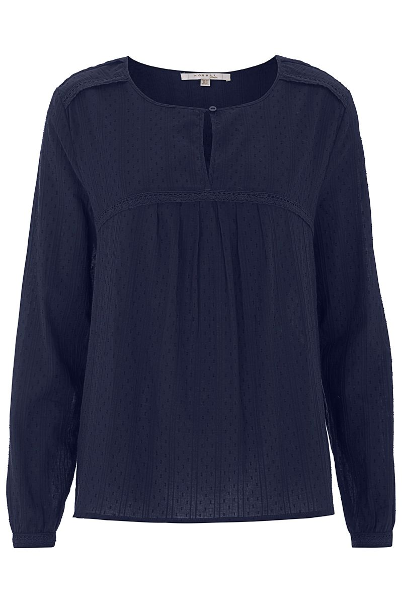 Nougat London Begonia Cotton Blouse, Blue