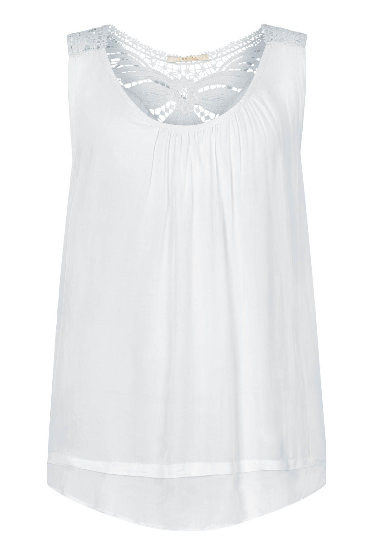 Nougat London Daffodil Embroidered Top, White