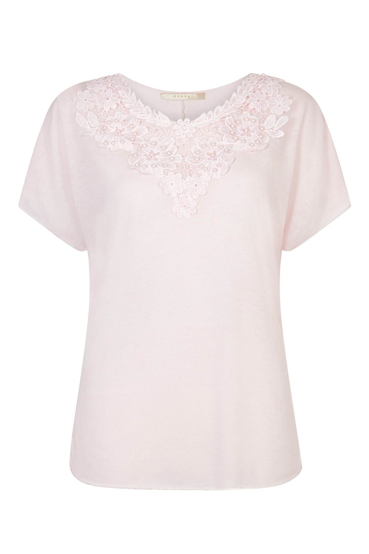 Nougat London Tulip Embroidered Top, Pink