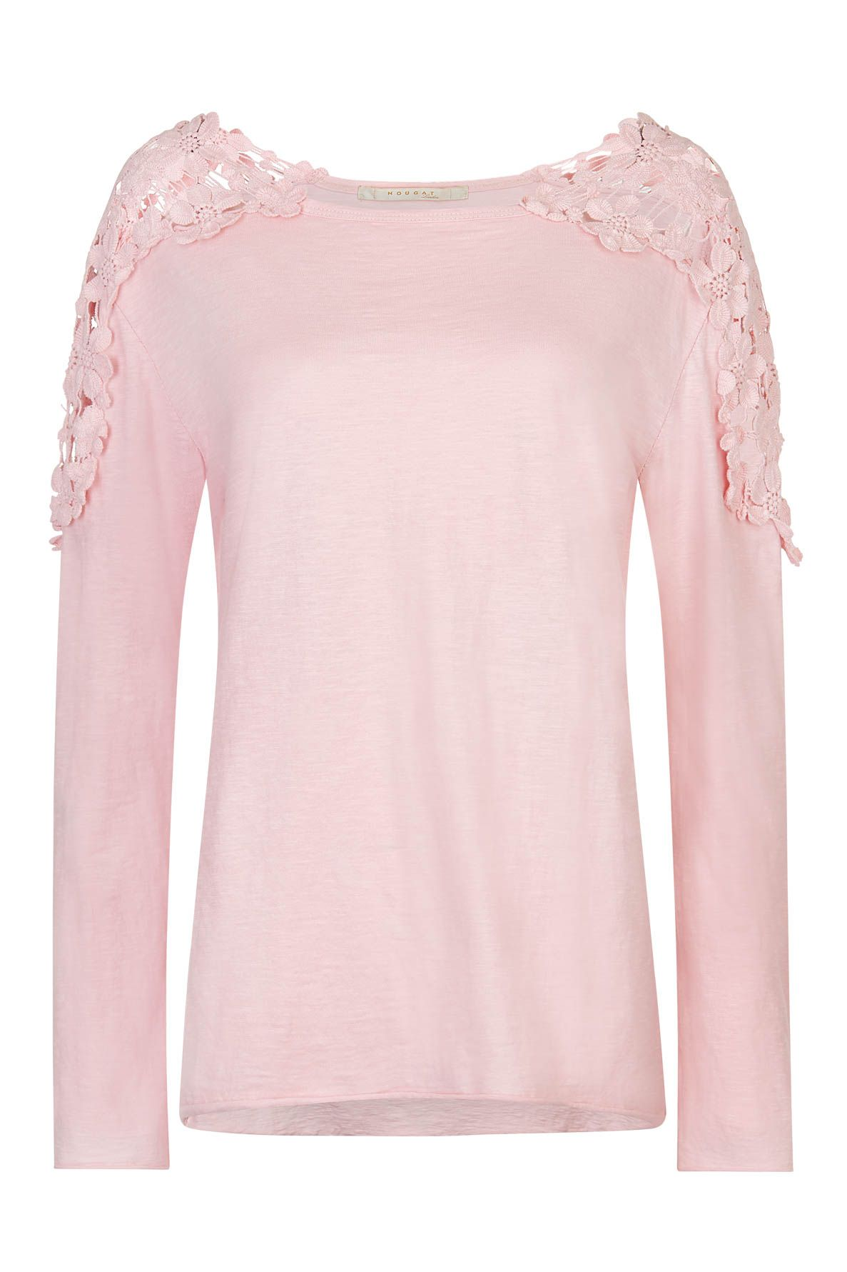 Nougat London Tuberose Crochet Top, Pink