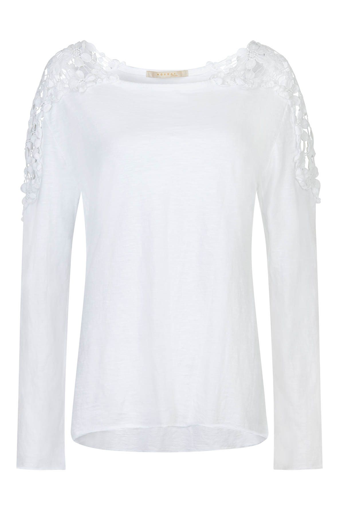 Nougat London Tuberose Crochet Top, White