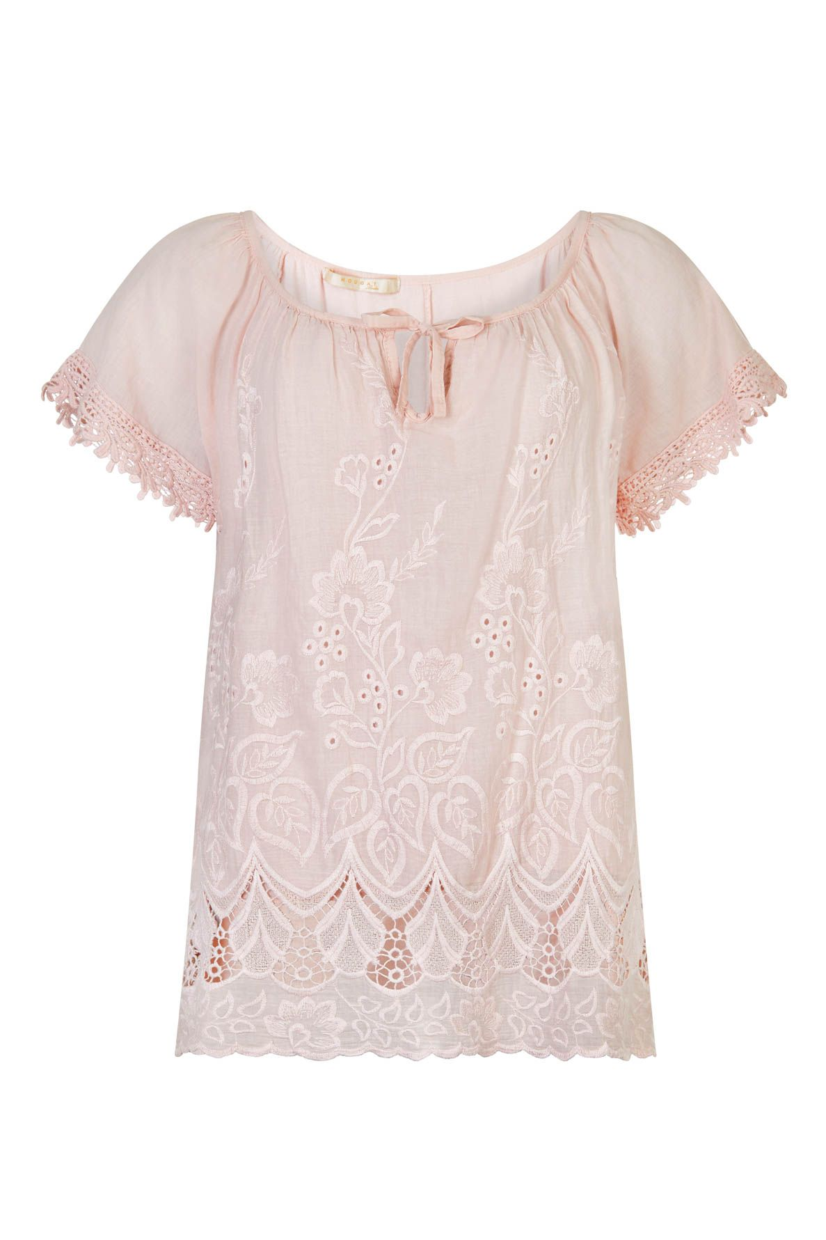 Nougat London Foxglove Embroidered Top, Pink