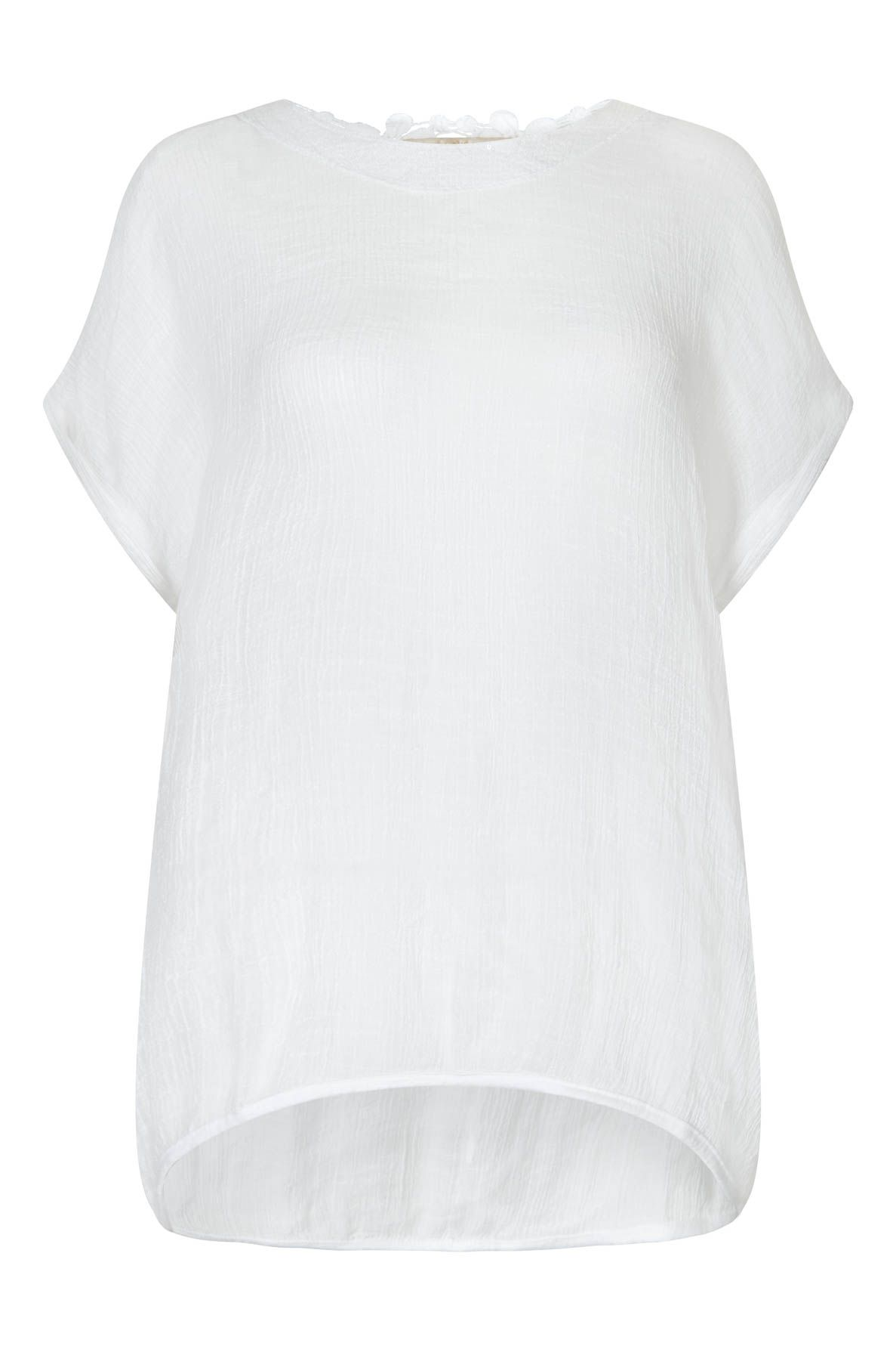 Nougat London Buddleia Sequin Top, White