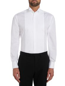 Plain Slim Fit Wing Collar Dress Shirt