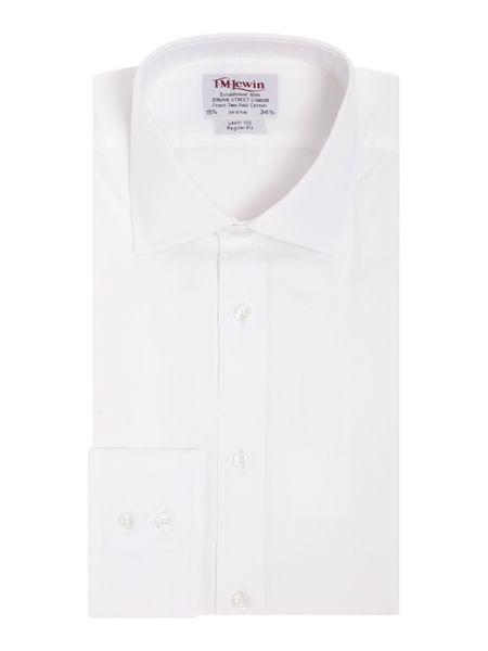 TM Lewin Plain poplin regular fit shirt