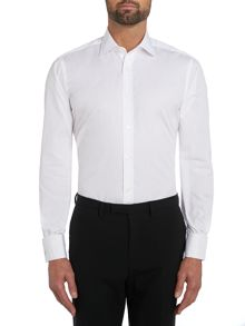 Plain Slim Fit Long Sleeve Classic Collar Formal