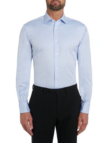 TM Lewin Plain pinpoint oxford regular fit shirt