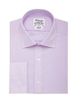 Herringbone non-iron slim fit shirt