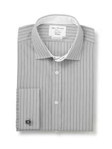 Stripe fully fitted long sleeve shirt
