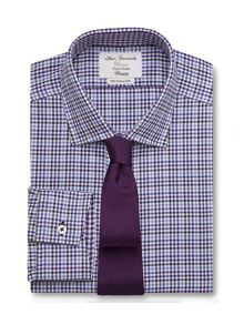 Gingham fully fitted long sleeve shirt