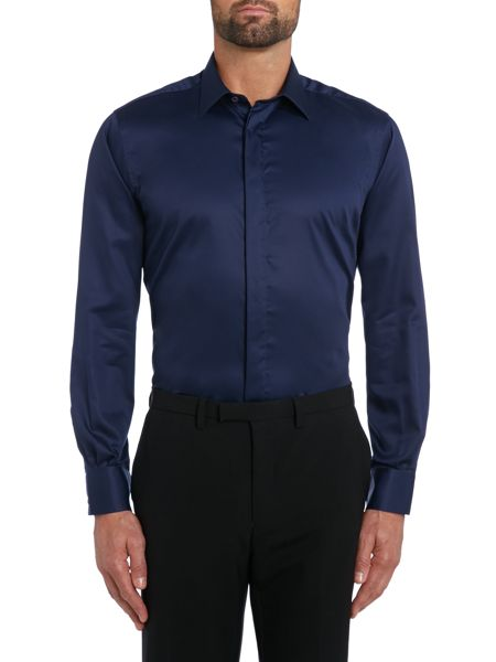 TM Lewin Slim fit long sleeve point collar shirt