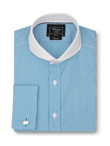 TM Lewin Fully fitted stripe collar shirt