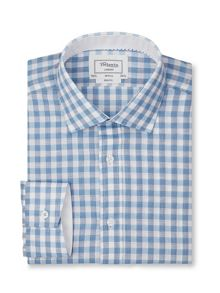 Slim fit end-on-end point collar shirt