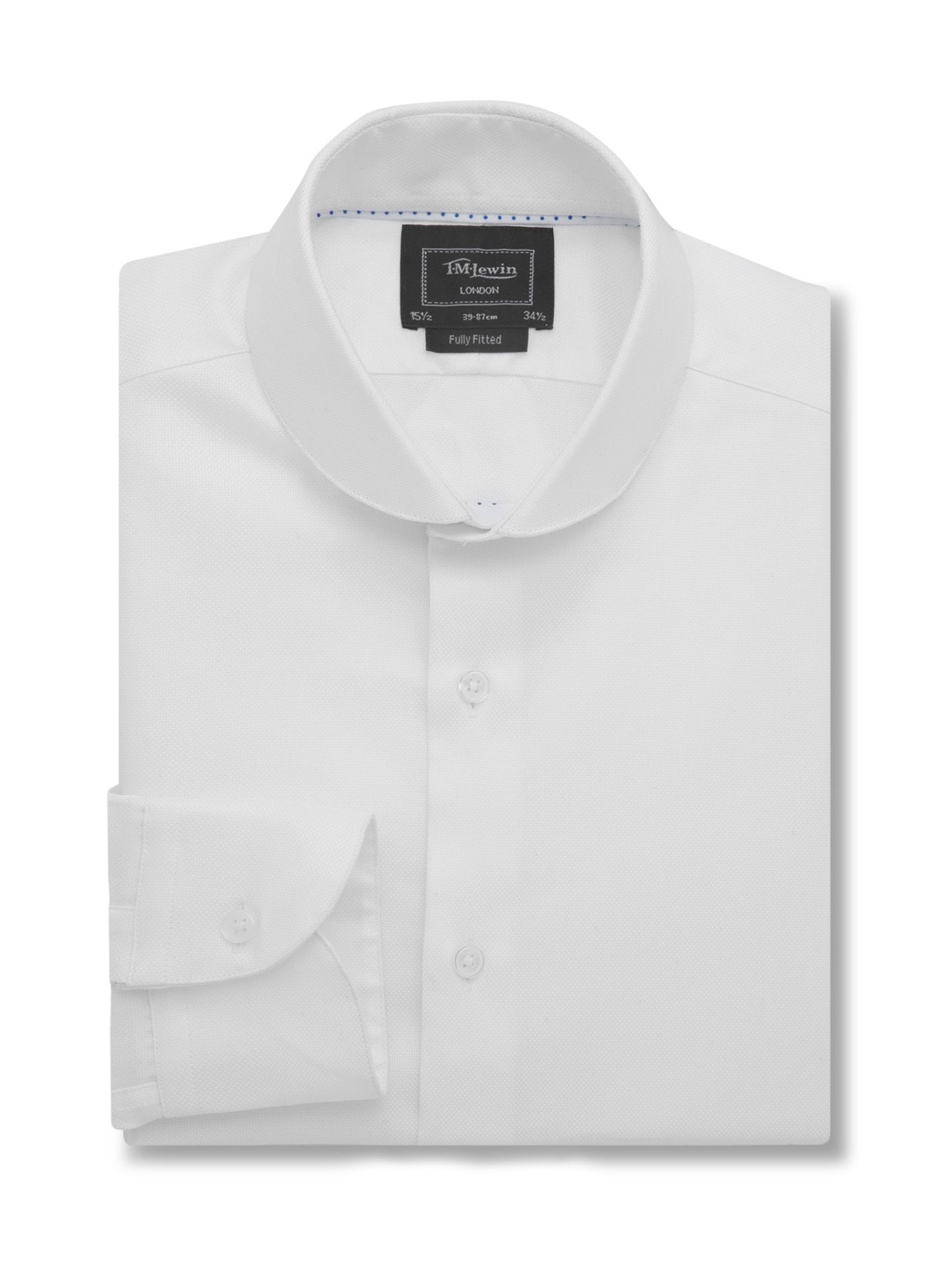 Fully fitted oxford round cutaway collar shirt