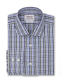 Large gingham check regular fit shirt