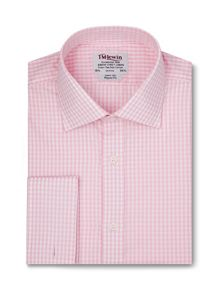 TM Lewin Small block check regular fit shirt