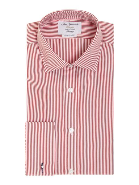 TM Lewin Stripe Fully Fitted Long Sleeve Formal Shirt