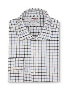 Country check brushed cotton regular fit shirt