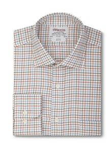 Country check brushed cotton slim fit shirt