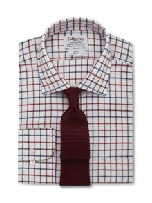Check brushed cotton slim fit shirt