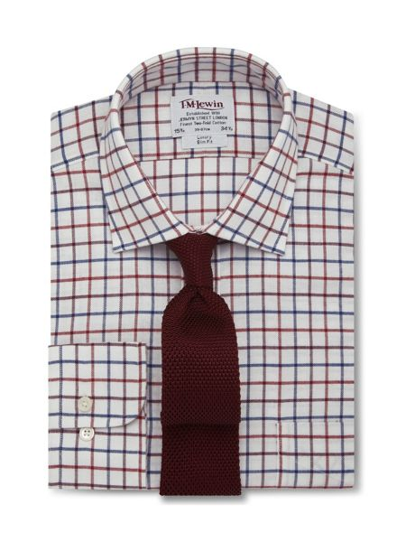 TM Lewin Check brushed cotton slim fit shirt